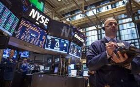 """欧美股市涨跌不一,美股深""""V""""反弹,道指一度涨超500点"""