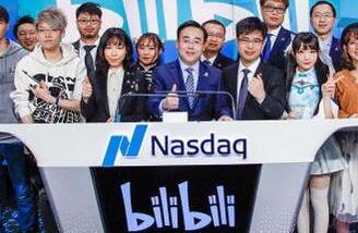 B站周三纳斯达克挂牌 一路下跌至2.26% 市值约31亿美元