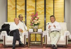 海南省长沈晓明会见香港兰桂坊集团主席盛智文