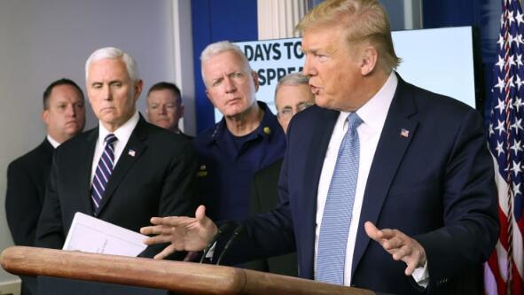 特朗普要求国会再拨460亿美元款项抗击新冠病毒