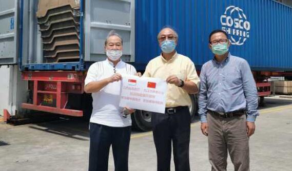新加坡中国商会抗洪抢险赈灾物资出海运赴中国