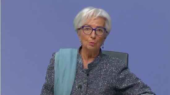欧洲央行行长拉加德表示欧元区经济在2020年末可能萎缩
